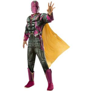 The Avengers: Vision Deluxe Adult Costume Size XL 44-46