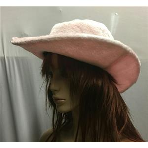Pink Furry Cowgirl Cowboy Breast Cancer Awareness Hat