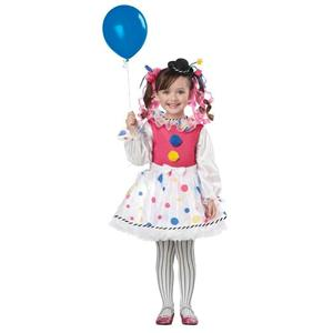 Cutsie Clown Toddler Girls Costume Size 4-6