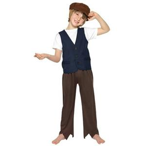 Smiffy's Child Victorian Poor Peasant Boy Oliver Twist Costume Size Small