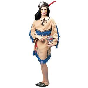 Girls Native American Indian Princess Child Costume Size Medium 8-10
