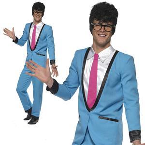 Smiffy's Teddy Boy Adult 50's Blue Suit Costume Size Medium