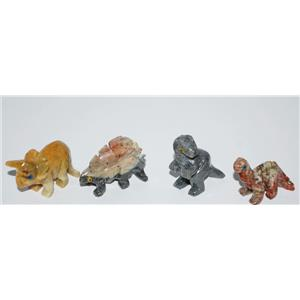 DINOSAUR Stone Carving (Small) CHOOSE ONE Replica Fossil 1-1 1/4 inch  #10339 2o
