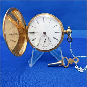 10 Size 18k Gold Henry Beguelin Key Wind / Key Set Pocket Watch