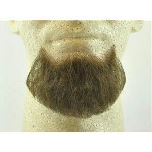 Medium Brown Human Hair Goatee Chin Beard Costume Beard 2022