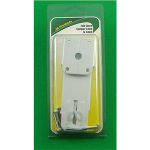 JR Products 10845 White Fold Down RV Camper Latch and Catch