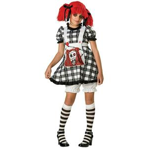 Tragedy Anne Gothic Rag Doll Tween Large Girls Costume Size Medium 10-12