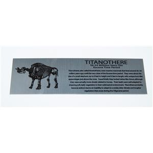 Titanothere Brontothere Extra Large Metal Display Label #11734 9o