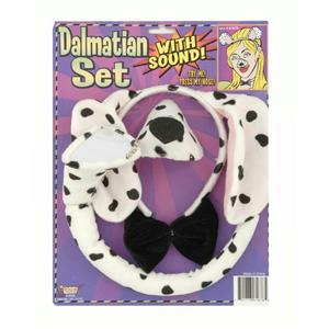 Dalmatian Dog Headband and Nose Ears Bow Tie Set with Sound