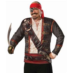 Forum Novelties Mens Realistic Buccaneer Pirate Costume Shirt One Size