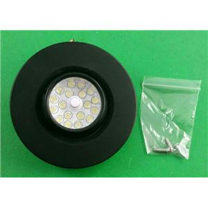 "3-1/4"" Round RV Trailer LED Interior Recessed 18 Diode Black Reading Light 9528B"