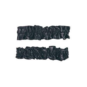 1920's Black Satin Old Fashioned Garter Flapper Arm Bands Armbands