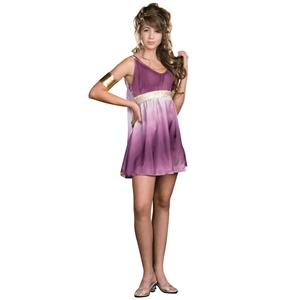 Dreamgirl Girl's Gorgeous Grecian Goddess Purple Ombre Costume Dress Teen M 7-9
