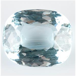 "Stunning Natural Untreated Loose Cushion Cut ""A"" Aquamarine Stone 45.36ct"