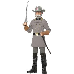 Civil War Confederate Officer General Lee Child Costume Size XL 12-14