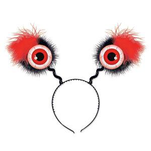 Furry Red Eyeball Boppers Headband