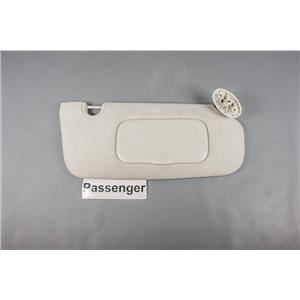 07-12 Dodge Caliber Passenger Side Sun Visor with Covered Mirror Adjustable Bar