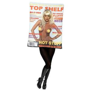 Smiffy's Women's Top Shelf Mens Magazine Cover Adult Costume