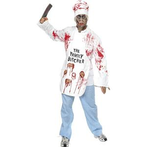 Men's Deadly Chef Family Bloody Butcher Adult Costume