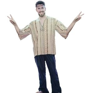 RG Costumes 60's Groovy Man Dashiki and Jean Bell Bottoms Costume Standard Size