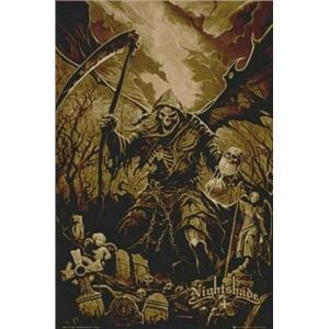 Nightshade Black Series Beautiful Horror End of Time Reaper T-Shirt Sz Medium