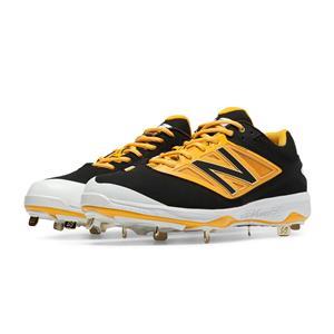 New Balance L4040BY3 Metal Low Baseball Cleat Black/Yellow Size 14.0