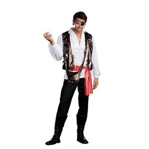Dreamgirl Captain One-Eyed Willy Pirate Adult Mens Costume Size XL