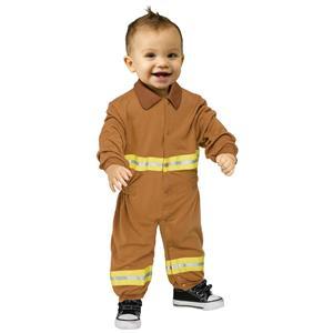 Fun World Fireman Infant Costume Jumpsuit 6-12 months