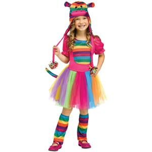Fun World Rainbow Sock Monkey Toddler Girl Costume Size Small 24 months-2T