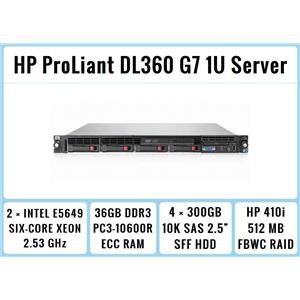 HP ProLiant DL360 G7 1U Server 2xSix-Core Xeon 2.53GHz + 36GB RAM + 4x300GB RAID