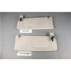 2013-2016 Dodge Dart Sun Visor Set with Covered Lighted Mirrors and Adjust Bars