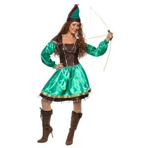 Smiffy's Women's Robyn Robin Hood Adult Ladies Costume Dress and Hat Small 6-8