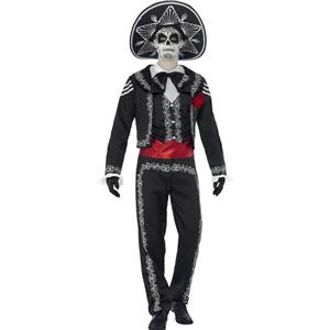 Senor Bones Mens Day of the Dead Adult Costume Size Small