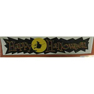 """Happy Halloween Witch 4Ft by 12"""" Banner Party Accessory Wall Window Decoration"""
