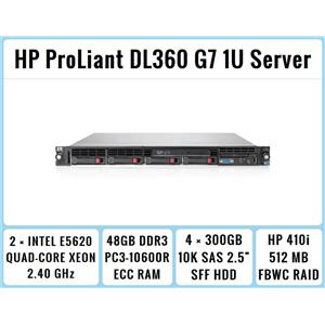 HP ProLiant DL360 G7 1U Server 2xQuad-Core Xeon 2.4GHz + 48GB RAM + 4x300GB SAS