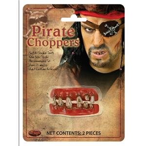 Soft Flexible Pirate Choppers Character Top and Bottom Teeth Costume Accessory