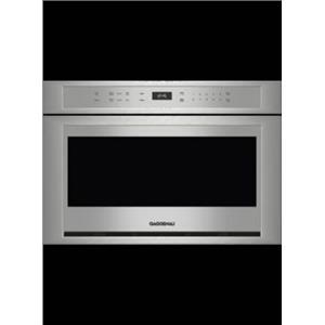 "Gaggenau MW420620 24"" Buildt In Microwave Drawer Stainless Steel Details"