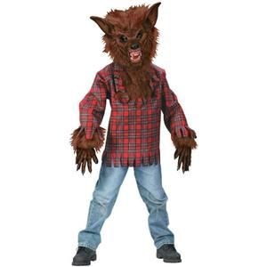 Fun World Brown Werewolf Child Costume Medium 8-10