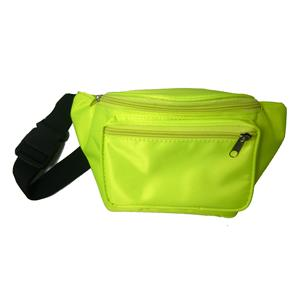 Neon Yellow 80's Fanny Pack Waist Carrier Costume Accessory