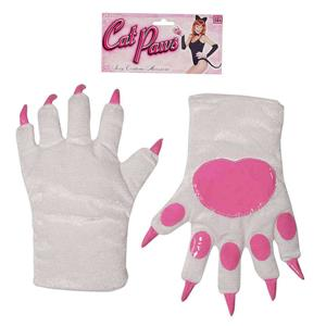 Forum Novelties Women's White with Pink Cat Paws Adult Costume Gloves