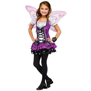 Fun World Girls' Butterfly Lilac Fairy Pixie Sprite Child Costume Small 4-6