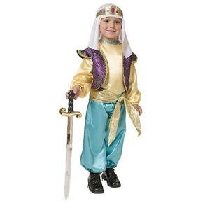 Deluxe Arabian Sultan Child Costume Dress Up Set Size Small 4-6