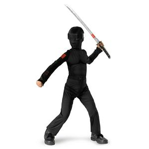 Disguise Boy's G.I. Joe Snake Eyes Classic Halloween Costume Child Small 4-6
