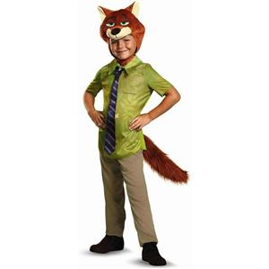 Disguise Nick Wilde Classic Zootopia Disney Child Costume Toddler XS 3T-4T