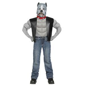 Fun World Pit Bull Biker Dog Kids Costume Large 12-14