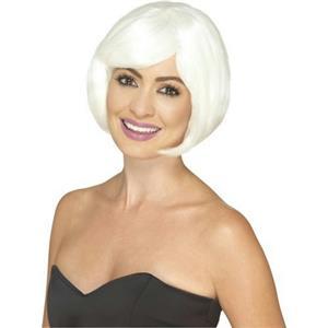 Smiffy's Women's Glow In The Dark Short Bob Party Wig
