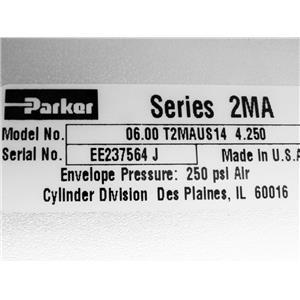 Gast ROA-P201-AA Piston Air Compressor Vacuum Pump Parker 2MA Pneumatic Cylinder