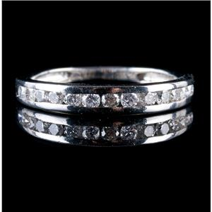 Platinum Round Cut Channel Set Diamond Wedding / Anniversary Band .52ctw