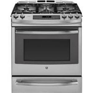 GE Profile 30 In. SS Free-Standing Single Oven Gas Convection Range PCGS920SEFSS