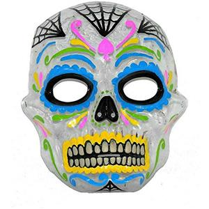 Day of the Dead Transparent Painted Skull Mask Forum Novelties